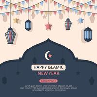Fond de vecteur de nouvel an islamique