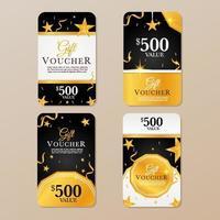 collection de cartes-cadeaux de luxe vecteur
