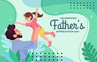 concept de modèle de fête des pères heureux vecteur