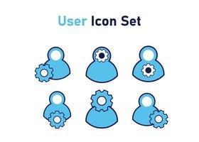 icône sertie de symbole de l'utilisateur. concept de gestion des utilisateurs. illustration vectorielle, concept d'icône de vecteur. vecteur