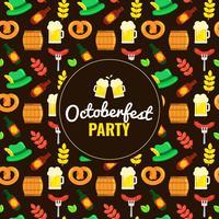 Modèle d'éléments de l'Oktoberfest vecteur
