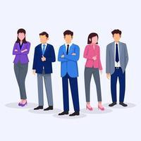 caractère de gens d'affaires vecteur