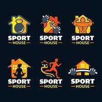 ensemble de logos de sport à domicile vecteur