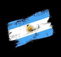 fond de brosse grunge drapeau argentine. ancienne illustration vectorielle de brosse drapeau. concept abstrait de fond national. vecteur