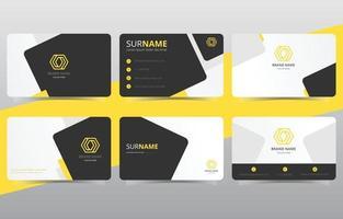 modèle de carte de visite jaune créatif et propre moderne vecteur