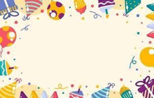 concept de cadre d'anniversaire coloré vecteur