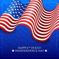 4 juillet fond de drapeau américain vecteur
