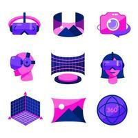 icône de réalité virtuelle vecteur