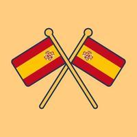 illustration de l & # 39; icône du drapeau espagne vecteur