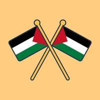 illustration d'icône de drapeau palestine vecteur