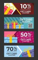 ensemble de modèles de conception de bon de carte-cadeau vecteur