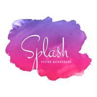 Beau fond coloré splash aquarelle vecteur