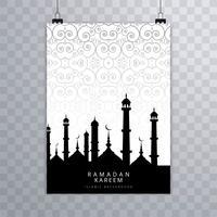Vecteur de carte de brochure islamique moderne Eid mubarak