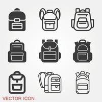vecteur d & # 39; icône de sac à dos