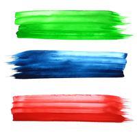 Main aquarelle colorée abstraite dessiner des traits de fond vecteur