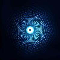 La technologie de tourbillon abstraite lignes fond bleu