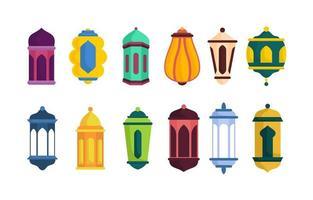 collection islamique de lanterne vecteur