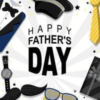 fond de fête des pères heureux avec dominante de couleur noire vecteur
