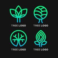 Éléments de logo d'arbre