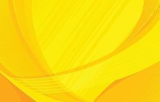 fond de vague jaune vecteur