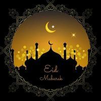 fond décoratif du festival eid mubarak vecteur