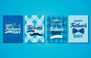 collection de logotypes de cartes de fête des pères vecteur