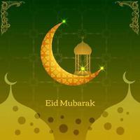 résumé, saint, élégant, décoratif, fond, pour, eid mubarak vecteur