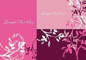 Grunge Floral Illustrator Fonds d'écran vecteur