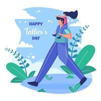 illustration de la fête des pères vecteur