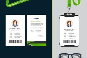conception de modèle de carte d'identité simple avec vecteur