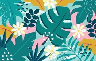 fond de feuillage tropical vecteur