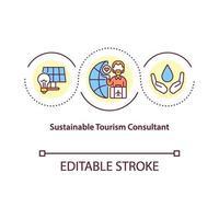 icône de concept de consultant en tourisme durable vecteur