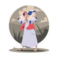illustration de l'Aïd al adha vecteur