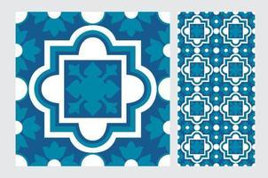carreaux de motifs portugais conception sans couture antique en illustration vectorielle vecteur