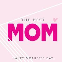 carte de fête des mères en dessin vectoriel