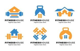 remise en forme à la maison concept de logo vecteur