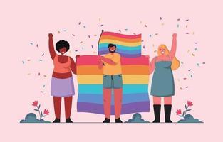 liberté pour tous les genres vecteur