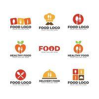 ustensiles de cuisine et logo sur le thème de la cloche vecteur