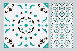 motifs de carreaux vintage design sans couture antique en illustration vectorielle vecteur