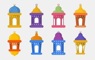 collection de lanternes eid plat vecteur