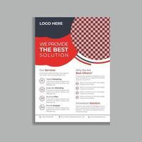 conception de modèle de dépliant promotionnel entreprise professionnelle et moderne rouge vecteur