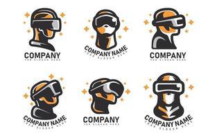 concept de logo vr vecteur