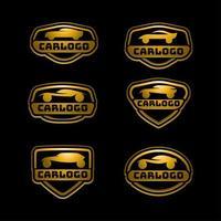 concept de logo de voiture vecteur
