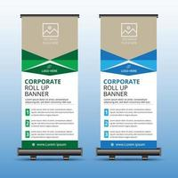 roll up banner pour votre entreprise vecteur
