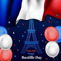illustration du jour de la Bastille vecteur