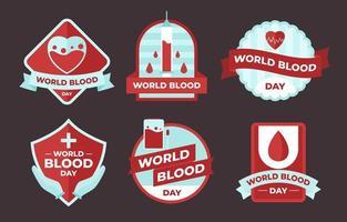 collection d'insignes de sang du monde vecteur