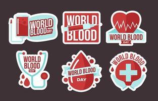 collection d'autocollants de sang du monde vecteur