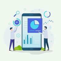 illustration vectorielle de data scientist design concept vecteur