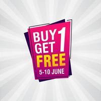 acheter un obtenir une vente gratuite bannière discount tag design template illustration vectorielle vecteur