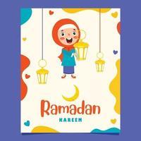 illustration dessinée à la main pour le ramadan kareem et la culture islamique vecteur